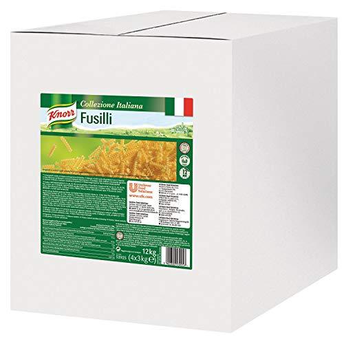 Knorr Fusilli Pasta - Spiralnudeln aus Hartweizengriess, Nudeln Großpackung, 3 kg