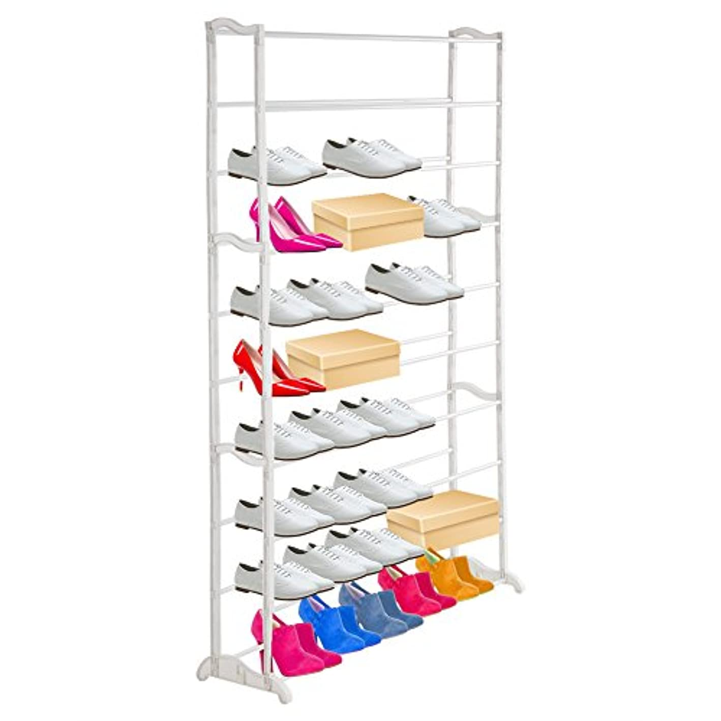 Zerone Shoe Rack Organizer,10 Tiers Shoe Rack 50 Pairs Shoe Tower Organizer Cabinet Space Saving Shoe Organizer