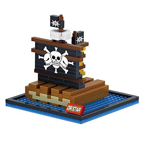 BAIDEFENG Modelo De Bloque De Construcción De Barco Pirata Mini Juego De Construcción De Barco Mini Bloques De Bricolaje Micro Ladrillos Juguetes 3D Rompecabezas DIY Juguete Educativo para Niños,F
