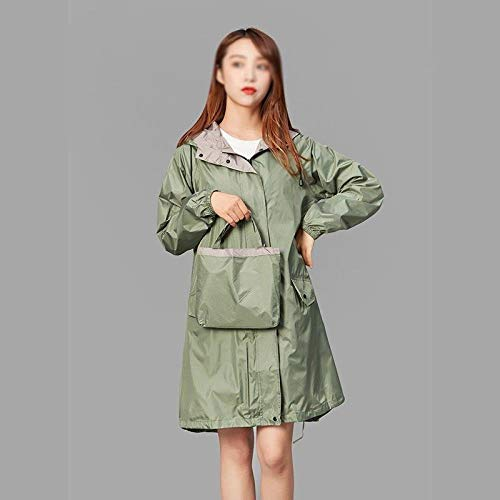Raincoat Female Adult Fashion Walking Fresh Long Single Poncho Korean Version Waterproof Windbreaker Ladies Travel Raincoat, S,green