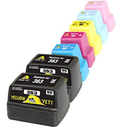 Yellow Yeti Reemplazo para HP 363 | 7 Cartuchos de Tinta compatibles con HP Photosmart C7280 C8180 C5180 C6180 C6280 C7180 3310 3210 3110 8250 D6160 D7160 D7260 D7460