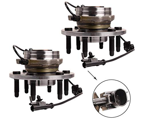Bapmic 2PCS 515096 Front Wheel Hub and Bearing Assembly Compatible with Chevrolet Silverado 1500 Suburban 1500 GMC Sierra 1500 Cadillac Escalade 6 Lugs W/ABS