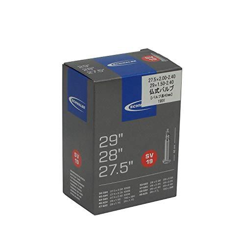 1x Schwalbe Unisex – Erwachsene Fahrradschlauch SV19 40/62-584/635 EK 40 mm Fahrradzubehör, schwarz, 27,5 29 Zoll