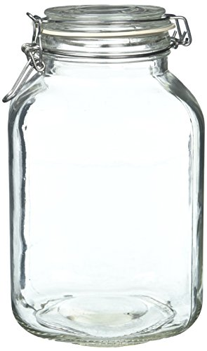 Anchor Hocking 106 Ounce Heremes Jar with Clamp Top Lid