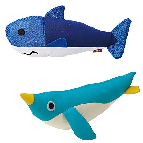 【セット買い】ペティオ (Petio) らくらくデンタルトイ けりぐるみ サメ & (Petio) 猫用おもちゃ けりぐるみ ペンギン