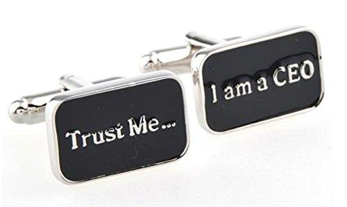GuDeKe Trust Me I AM A CEO Bouton de Manchette