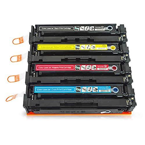 AXAX Reemplazo para HP CF500X CF50XX C502X CF50XX Cartucho de tóner Compatible para HP Color Laserjet Pro M254DW M254NW MFP M281CDW M281FDW M254DW Printer, con Chip Combination