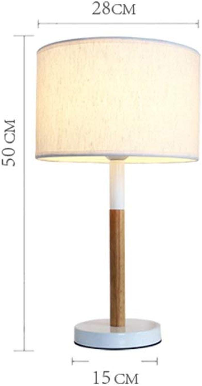 D08 Tischlampe, Nachttisch aus Massivem Holz im Japanischen Stil Einfache Moderne Holztischlampe Energieeinsparung und Umweltschutz Modern