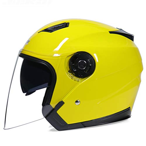 Generic Paar Motorradhelm Sicherheit Motorradhelm Jethelm Verfügbar Roller Fahrradhelm 3/4 Jethelm