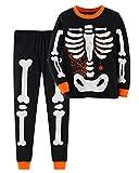 Toddler Boys Girls Halloween Pajamas Sets Skeleton Pjs...