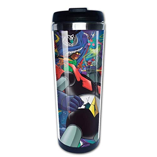 Hirola Maxgh Mazinger Z - Taza de café con aislamiento para bebidas frías y calientes, color negro