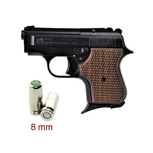 Pistolet en MÉTAL 315 Baby 8 MM Noir/Bois - BR-315W.8