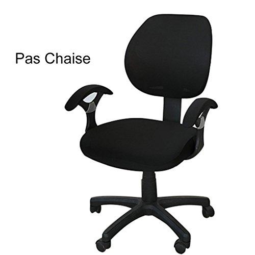 Xianheng Housse de Chaise Bureau Protection Fauteuil pivotant Office Noir (Sans Chaise)