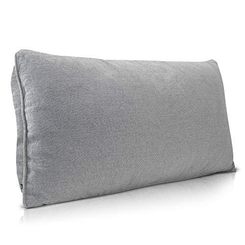 DYNMC you Sofakissen Groß Grau Bequem als Rückenkissen - Sofakissen mit Füllung und Bezug mit Hochwertiger Oeko TEX Qualität - Dekokissen mit Füllung Waschbar - Couch Kissen
