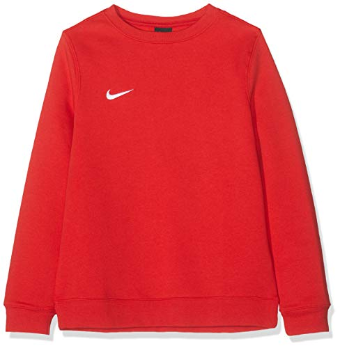 NIKE Y CRW FLC TM Club19 Sudadera, Niños, University Red/Wh