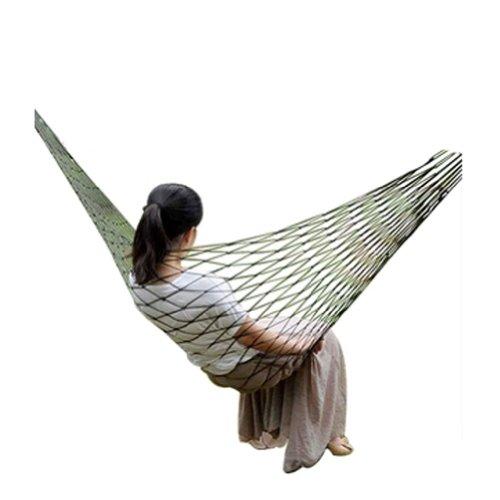 Creative en maille corde en nylon Hamac Portable Hamac Vert 79,8 x 199,9 cm