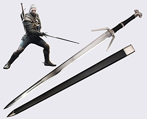 Il Nuovo Mondo DER HEXER Silberschwert Geraltschwert The Witcher Geralt Riva Schwert Silber