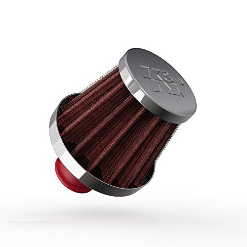 K&N Vent Air Filter / Breather: Washable and Resuable: 0.375 in/0.5 in (10 mm/13 mm) Flange ID; 1.75 in (44 mm) Height; 2 in (51 mm) Base; 1.5 in (38 mm) Top, Red , 62-1600RD