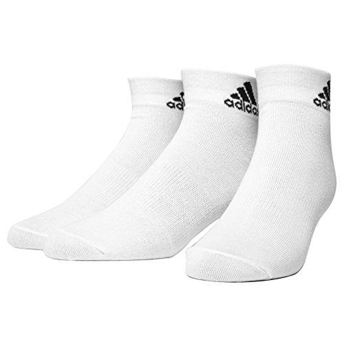 adidas 3 Paar Performance Sneaker/Quarter Socken Unisex Kurzsocke, Farbe:White, Socken & Strümpfe:43-45