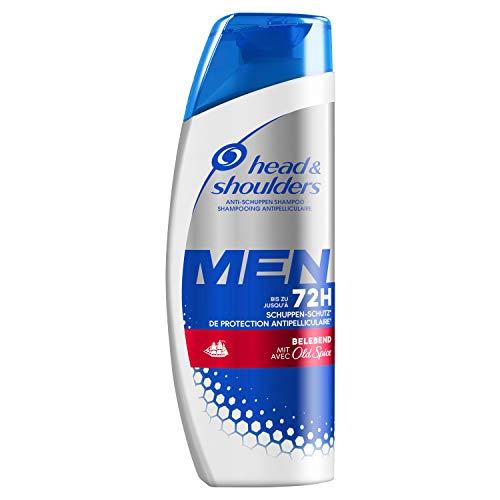 Head & Shoulders Men Belebend Anti-Schuppen Shampoo Mit Old Spice-Duft, 250ml, Shampoo gegen Schuppen, Trockene Kopfhaut, Haarpflege, Kopfhautpflege, Bis Zu 100% Schuppenfreies Haar, Shampoo Herren