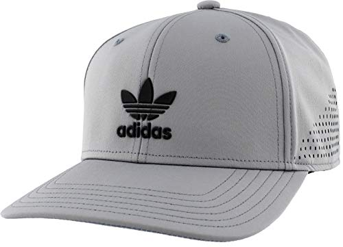 adidas Originals Men's Tech Mesh Structured Snapback Cap, Grey/Black, ONE SIZE