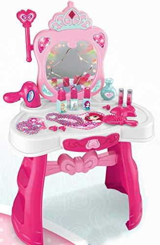 Juego de mesa de tocador para niños, espejo de maquillaje y escritorio, juego de juguete