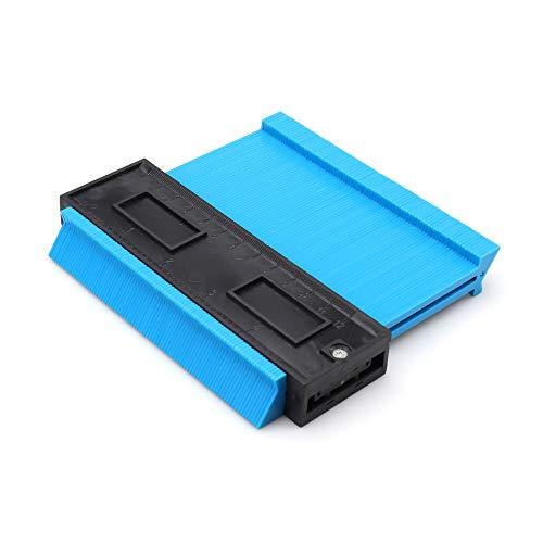 Hesper 型取りゲージ 120mm 幅広タイプ(13cm幅) 「フルフィルメント by Amazon」ABSプラスチック製型取りゲージ 測定ゲージ 測定工具 曲線定規 不規則な測定器 (ブルー)