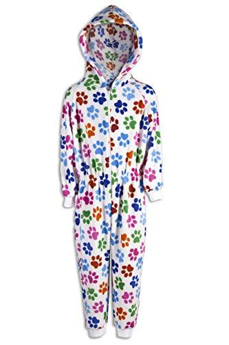 CAMILLE Strampler-Pyjama-Sets für Kinder mit Mehreren Aufdrucken 12-14 Years White Paw