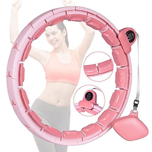 Aweohtle Hula Reifen Hoop Fitness Hula Smart Hoop Reifen Verbesserter Intelligenten Zählen Nicht Runterfällt Hoola Hup Reifen Erwachsene Einstellbare Größ Gymnastikreifen zum Abnehmen,Fitness,Massage