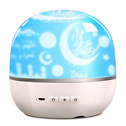 Docooler Projector Night Light Intelligent BT Small Loudspeaker Projection Lamp with Rotatable Color Light 3D Around Portable Mini Qur'An Speaker