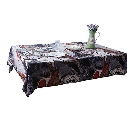 H&RB-tablecloth Clásica De Algodón De Lino Mantel,
