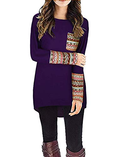 Yasmine Womens Long Sleeve T-Shirt Casual Blouses $7.99 (60% Off at checkout)