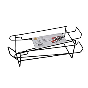Stylish Sturdy Steel Can Beverage Dispenser Rack Organizer, Black (Dispenser)