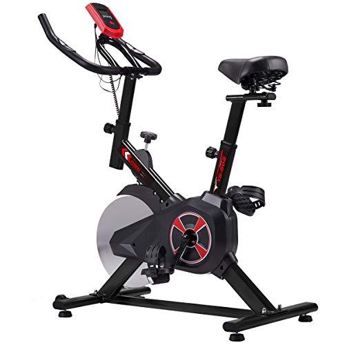 KUOKEL K601 Bicicleta de Spinning Bicicleta estática con Rueda Resistencia Variable Monitor Digital Pantalla...