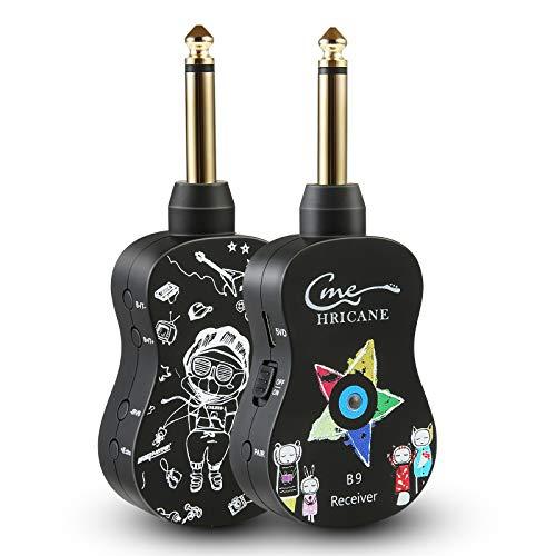 Trasmettitore e Ricevitore per chitarra senza fili, UHF 20 Hz - 20 KHz, trasmettitore audio ricaricabile, ricevitore per basso elettrico, amplificatore