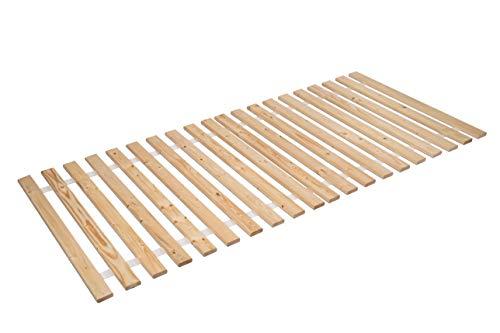 AZZAP Rollrost 100x200cm Rolllattenrost Lattenrost Bettrost Holzlatten 20 Latten Rost