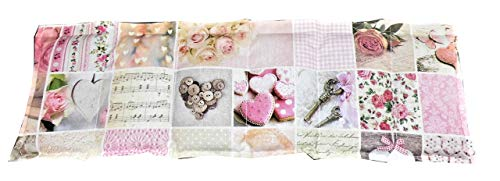 Körnerkissen Kühlkissen Wärmekissen Dinkelkissen 60x20 Herzen weiß/beige/rosa 100% Baumwolle