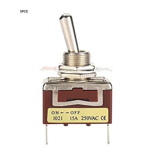 5 piezas 6.3 pines rápidos 1021 Mini interruptor de palanca