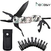 HOCOSY Multi-Tool Taschenmesser 5 in 1 Multifunktions-Taschenwerkzeug mit Dosenöffner Flaschenöffner Klappmesser und Schraubendreher, Multifunktionaler Taschenmesser für outdoor Camping, Wandern