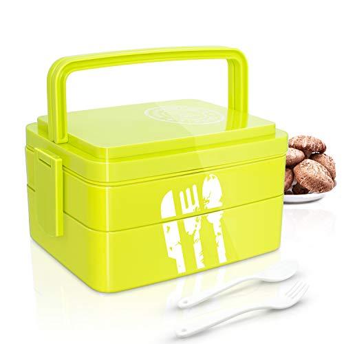 Betuy Brotdose I Erwachsene Bento Box I Lunchbox 2 SchichtenI Spülmaschinengeeignet I Mikrowellengeeignet I BPA Schadstofffrei I Geruchs- und Geschmacksneutral