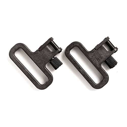 Uncle Mike's SS Mim Quick Detach Sling Swivels (Blued, 1 1/4-Inch)