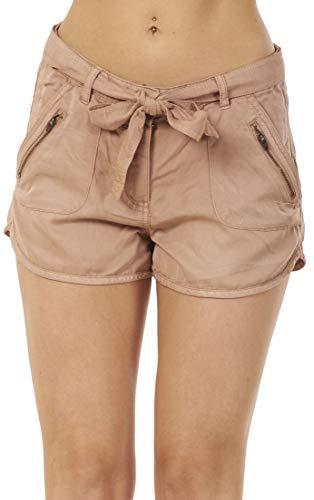 Ex High Street Shorts Casual da Donna - con Tasche e Cintura - Estivi - Rosa - 34
