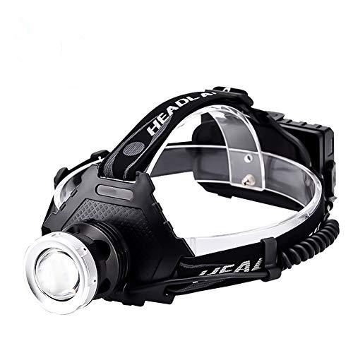 LEDヘッドライト 最強ルーメン 最高輝度 2020最新仕様 充電式 残量表示 伸縮ズーム5段階の点灯モード USB輸出 登山 夜釣り アウトドア作業 SOS