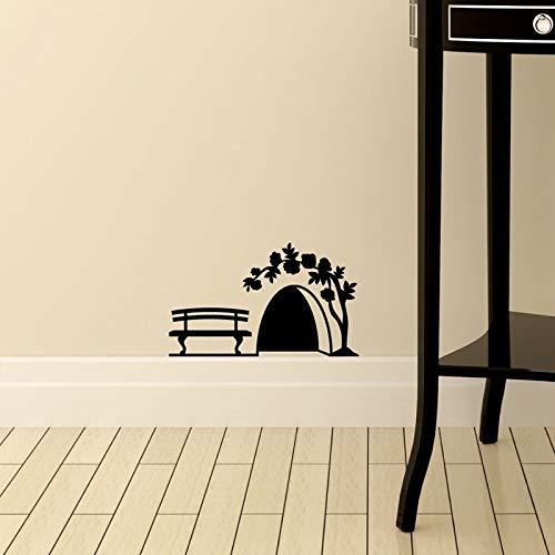 Klein muisgat muursticker deur kast huisdecoratie kunst kinderen kamer decoratie creatief PVC gesneden stickers op de muur