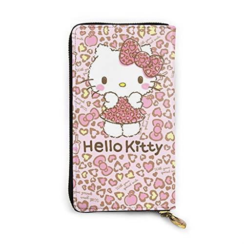 Hello Kitty Portafoglio in pelle con cerniera su entrambi i lati di stampa di grande capacità titolare della carta di credito Bill titolare portatile pratico