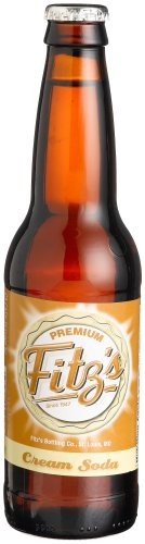 Fitz's CREAM SODA OF St. LOUIS MISSOURI - 'It's creamy under the friendship arch', 12-Ounce Glass Bottle (Pack of 12)
