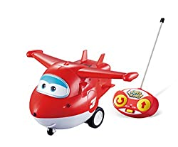 RC vehicle with electronic sounds. Forward motion and 360° spinning action. Controller is easy-to-use and designed for little hands. Other remote control Super Wings heroes include Paul (each sold separately). Requires 5 AAA batteries (not included)....