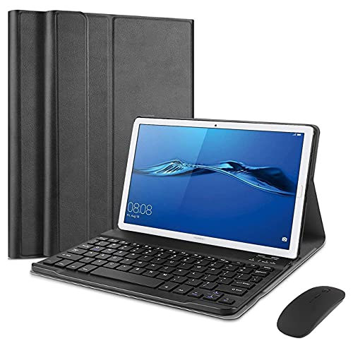 QYiD Keyboard Case for Lenovo Tab M10 HD (2nd Gen) Tablet TB-X306 2020 10.1', Leather Stand Case Cover with Magnetically Detachable Wireless Keyboard for 10.1' Lenovo Tab M10 HD (2nd Gen), Black
