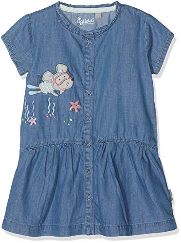 Sigikid Mädchen Jeans, Baby Kleid,Blau (Denim Light Blue 590),80