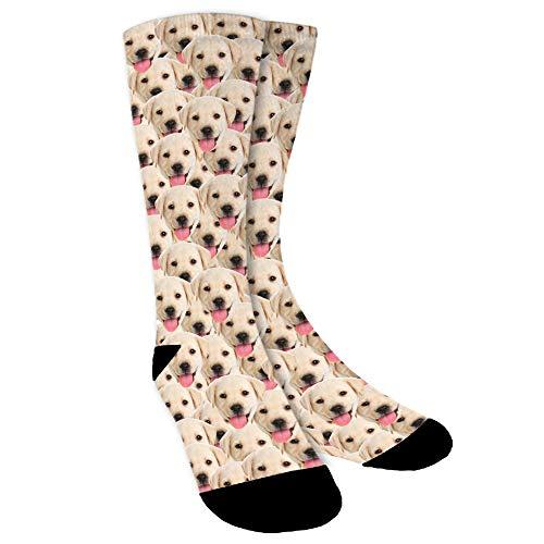 Aolun Socken Personalisiert Foto,Socken Individuell,Setzen Sie Hund, Katze, andere Haustiere Gesicht Foto in Socken